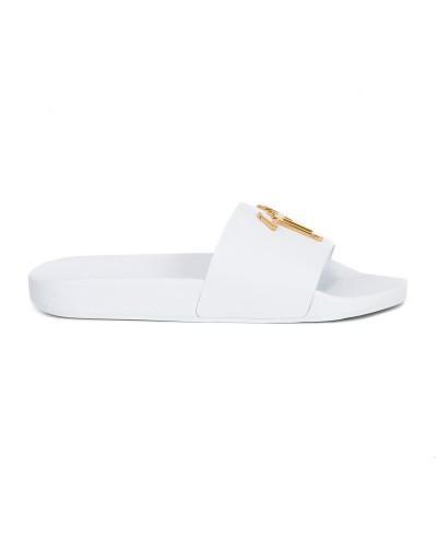 Białe klapki damskie